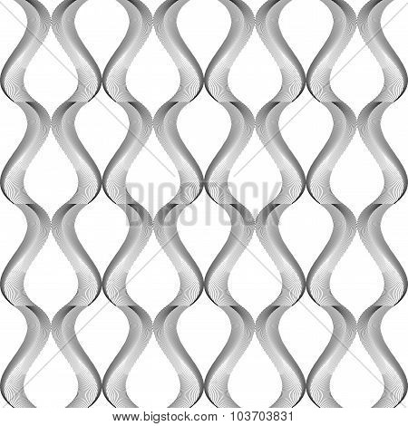 Design Seamless Monochrome Twisting Pattern