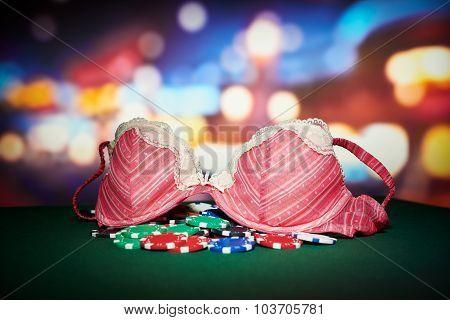 Poker Chips With Underwear