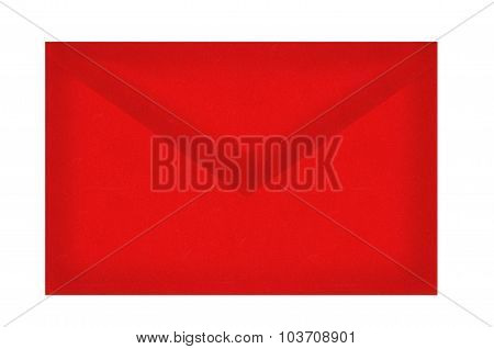 Red Letter Envelope Isolated On White