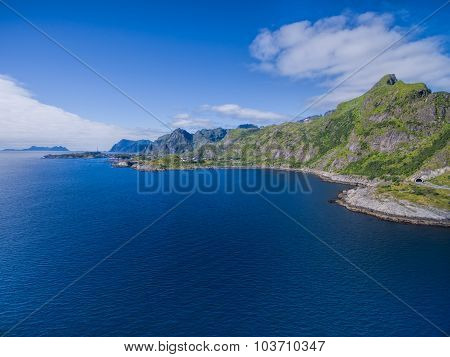 Scenic Panorama Of Lofoten Islands