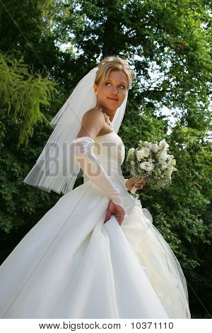 The Bride In Park