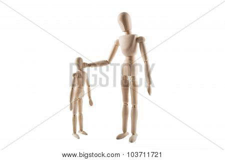 Father Slapping Child Puppet