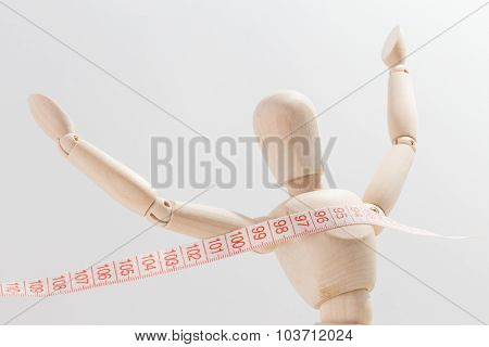 Puppet Arriving At The Destination Of Weight Loss
