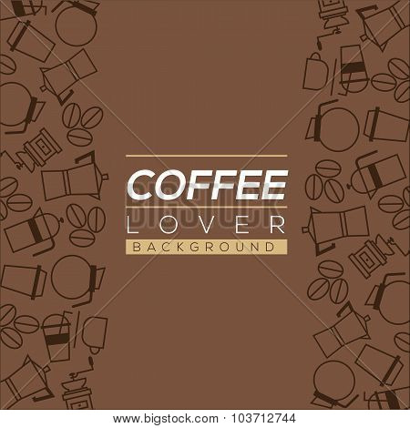 Coffee Lover Background Vector Illustration.
