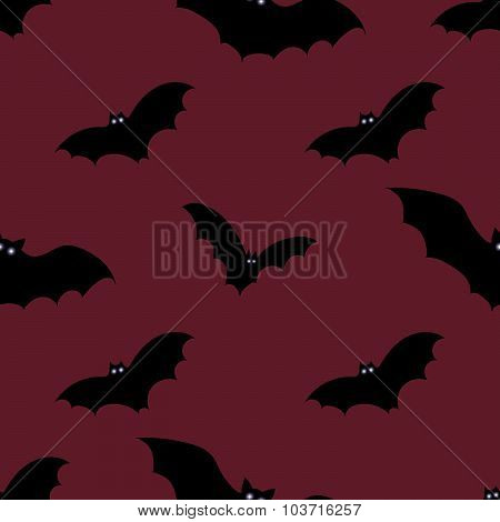 Halloween seamless background with bats.
