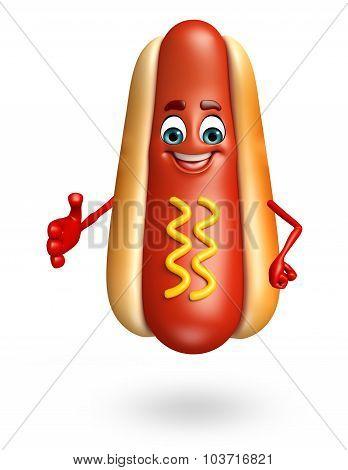 Cartoon Character Of Hot Dog