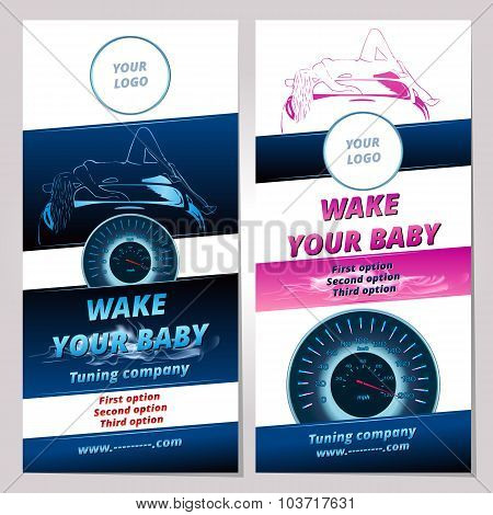 Banner Or Leaflet For Tuning Cars Company