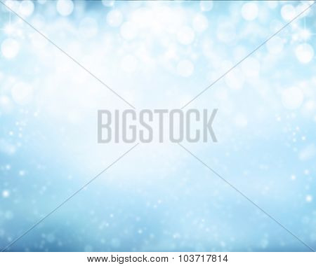 Abstract snowy blur winter background with spotlights