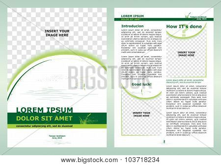 Brochure About Fishing Template, Cover And Page