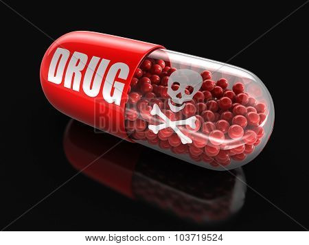 Pill Drug (clipping path included)