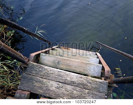 Steps to the water