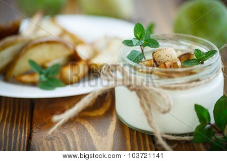 Yogurt With Roasted Pears
