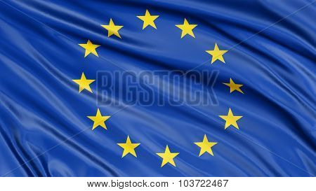 3D flag of the European union