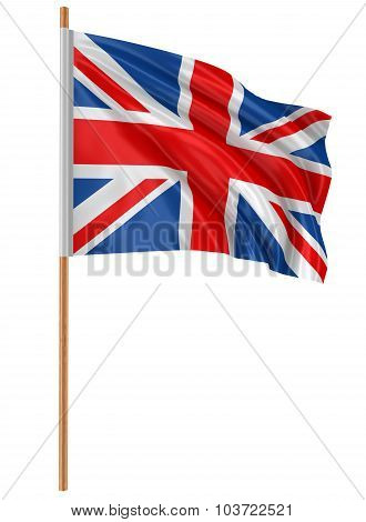 3D United Kingdom Flag (clipping path included)