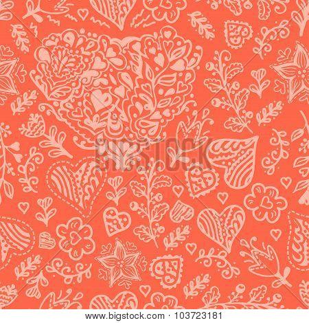 seamless valentines pattern