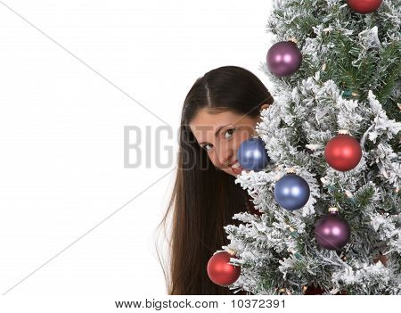 Woman With Holiday Tree