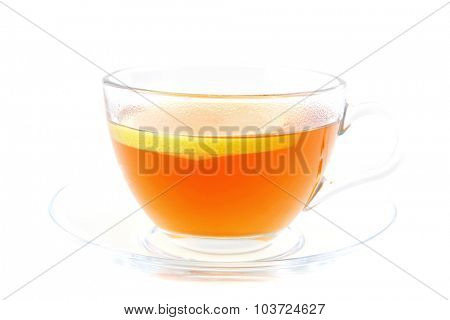 gold english tea isolated on white background