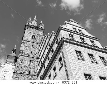 Black Tower and Town Hall in Klatovy