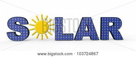 3d solar energy concept