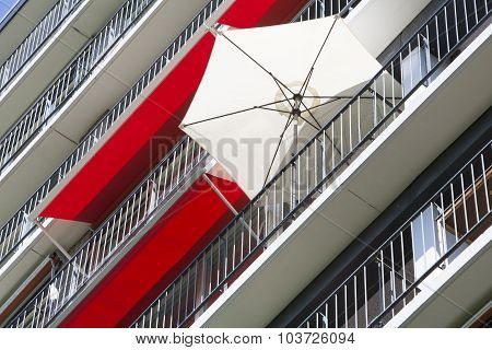 Parasol And Awnings In The City