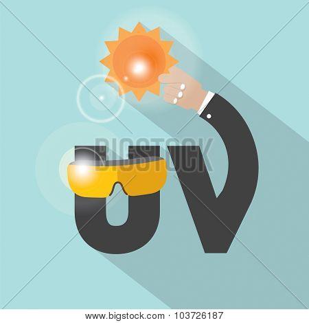 Uv Typography Design Vector Illustration.