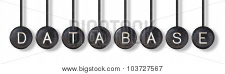 Typewriter Buttons, Isolated - Database