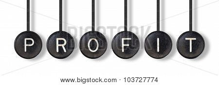 Typewriter Buttons, Isolated - Profit
