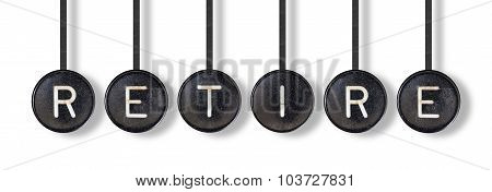 Typewriter Buttons, Isolated - Retire