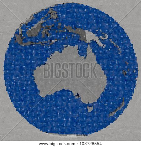 Drawing Of Australia On Earth