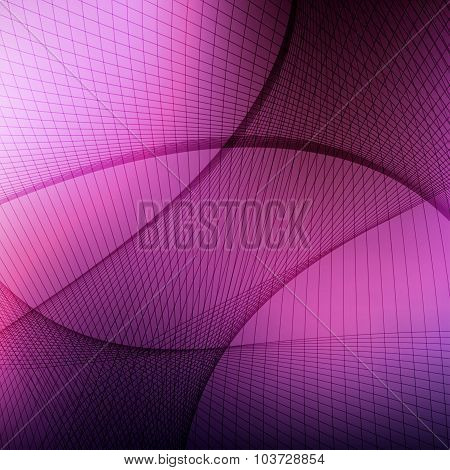 Abstract curved lines on blured background. Vector illustration