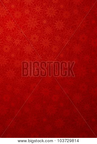 Red Wallpaper With Snowflakes.