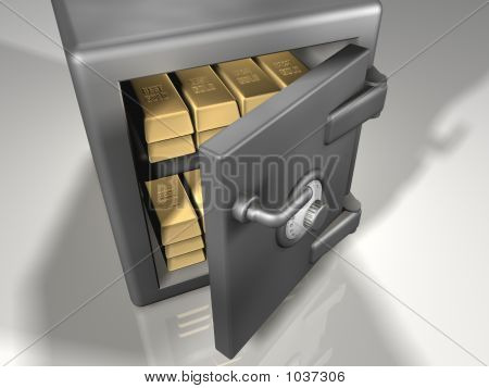 Strong Box With Gold