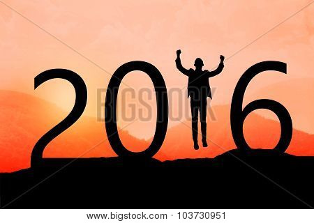Silhouette Of Man Jumping Over 2016