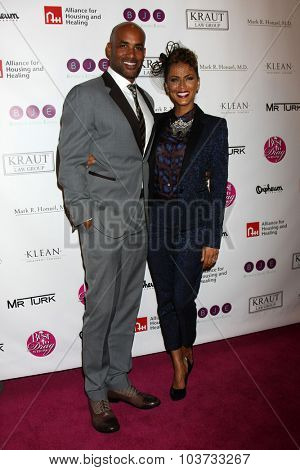 LOS ANGELES - OCT 4:  Boris Kodjoe, Nicole Ari Parker at the Best In Drag Show at the Orpheum Theatre on October 4, 2015 in Los Angeles, CA