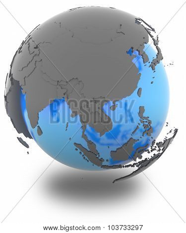 East Asia On Earth