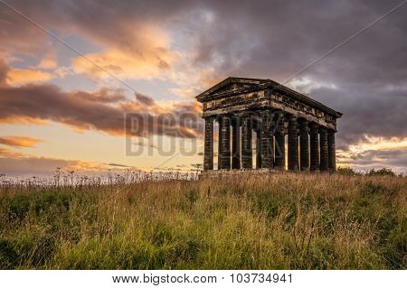 Penshaw Monument At Sunset