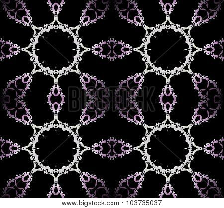 Seamless ornaments violet black