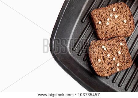 Fresh Bread On A Plate