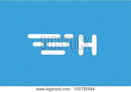 Fast line vector letter A logo monogram