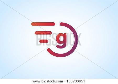 Fast line vector letter G logo monogram