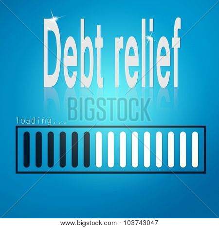 Debt Relief Blue Loading Bar
