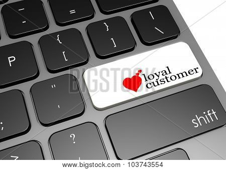 Loyal Customer Black Keyboard