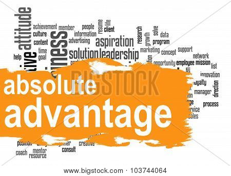 Absolute Advantage Word Cloud With Orange Banner