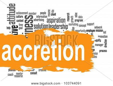 Accretion Word Cloud With Orange Banner