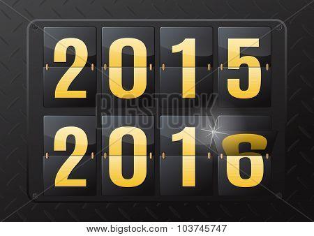 2016 New Year Flip Calendar.