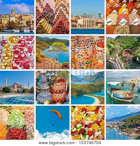 Turkey travel collage