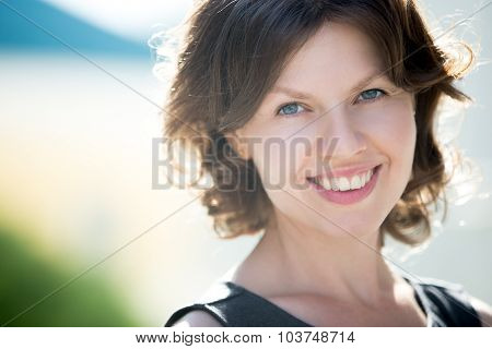 Young Happy Woman Face