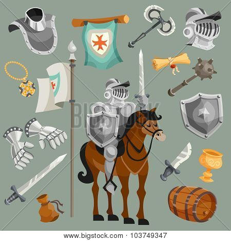 Knights Cartoon Set