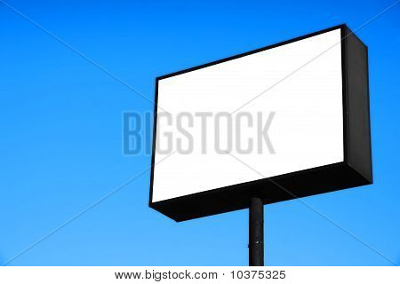 White Blank Road Sign