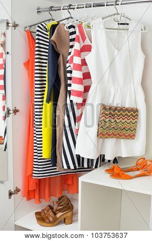Bright Colorful Female Fashion Clothes